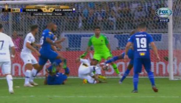 Sassá y su gran definición para el 1-0 que esperanza al club brasilero   Foto: captura