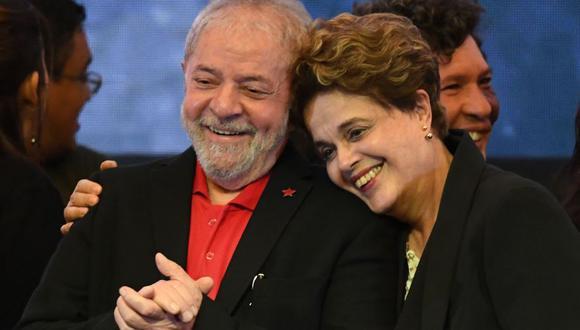 Los expresidentes brasileños Luiz Inácio Lula da Silva y Dilma Rousseff. (Foto: AFP)