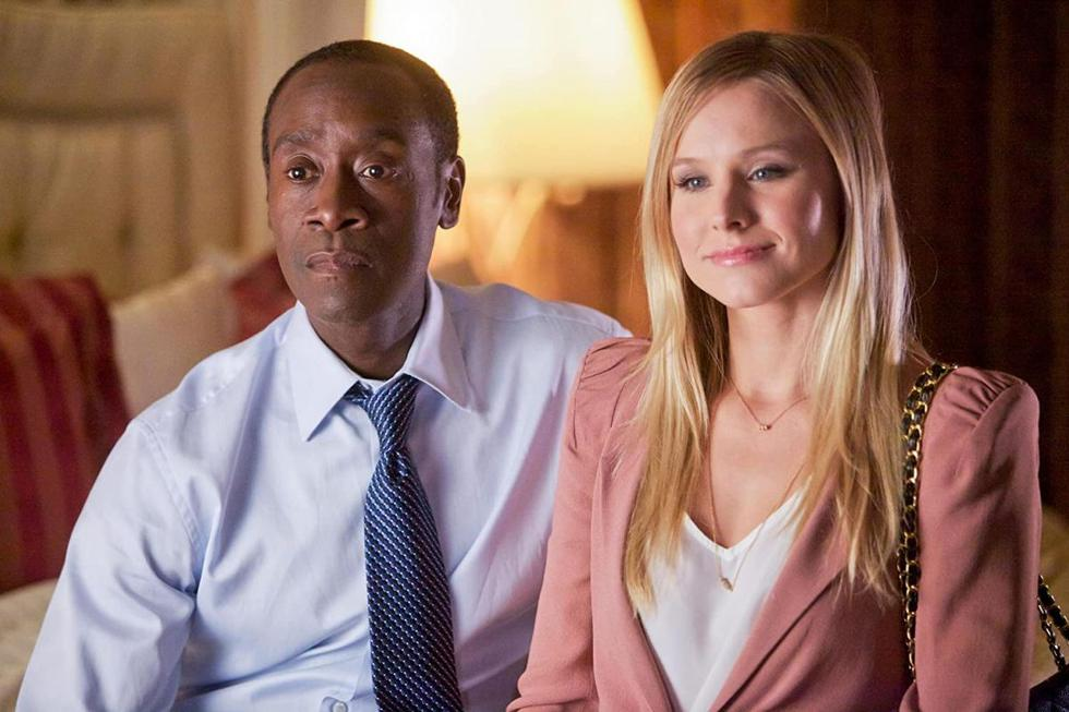 """In 2012, Kristen Bell participated in the series """"House of Lies"""".  The actress played Jeannie van der Hooven, an ambitious executive who represents the love interest and rival of protagonist Marty Kaan (Don Cheadle).  (Source: Showtime)"""
