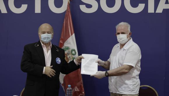 Luis Solari se une a equipo del candidato Hernando de Soto por Avanza País   Foto: Antonhy Niño de Guzmán.