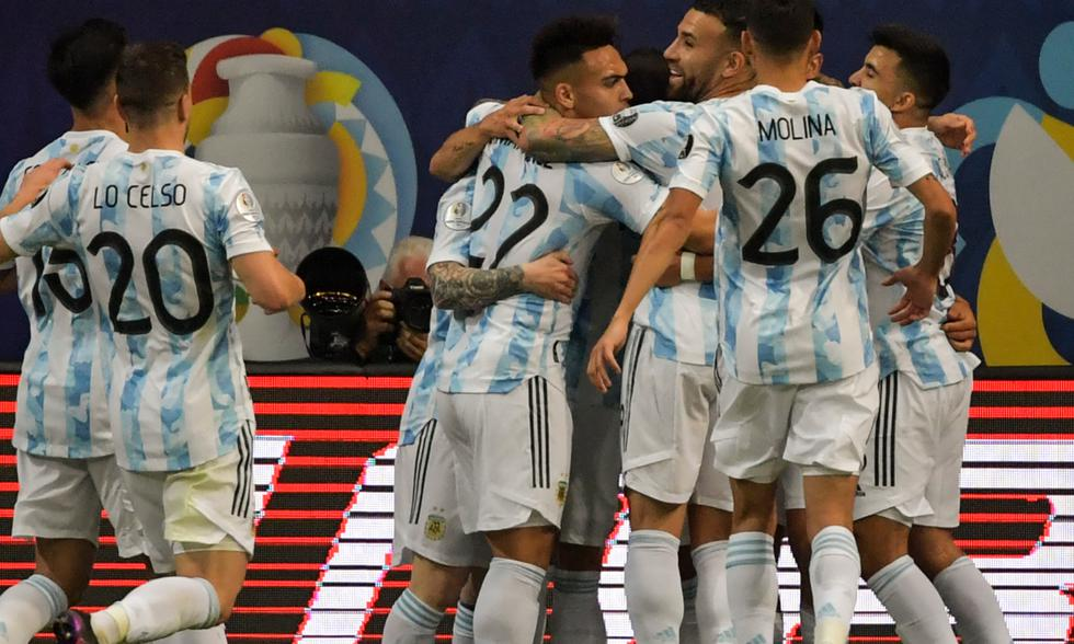 Argentina vs. Uruguay por Copa América 2021. Foto: AFP