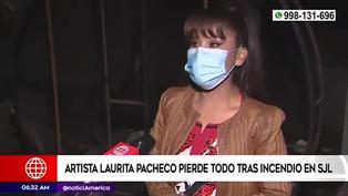 SJL: Laurita Pacheco pierde todo en incendio y pide ayuda al Ministerio de Cultura