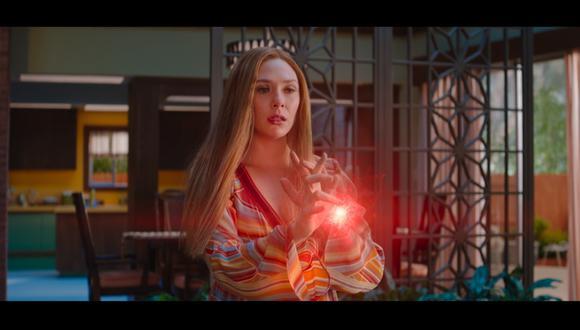 """Wanda Maximoff (Elizabeth Olsen), luego de librarse de Monica Rambeau en el episodio 4 de """"WandaVision"""". Foto: Marvel Studios."""