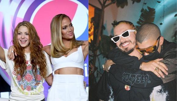 : J Balvin y Bad Bunny serán los invitados sopresa de Shakira y Jennifer Lopez  (Foto: Instagram)