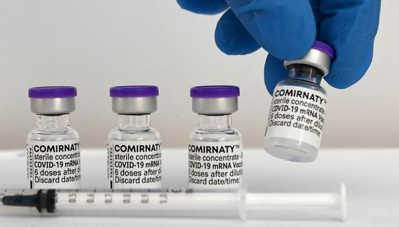 Pfizer confirma que vacunas contra el coronavirus que se vendían en México y Polonia en 1.000 dólares eran falsas. (Foto referencial, Christof STACHE / AFP).