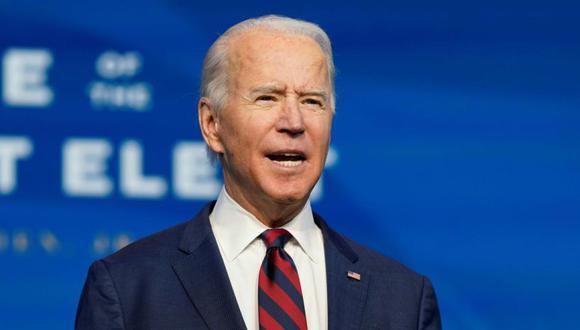 El presidente electo de EE. UU., Joe Biden, habla durante un evento para presentar a los nominados clave del gabinete y a los miembros de su equipo climático en un evento en el Queen Theatre en Wilmington, Delaware. (Foto: AFP / Alex Edelman).