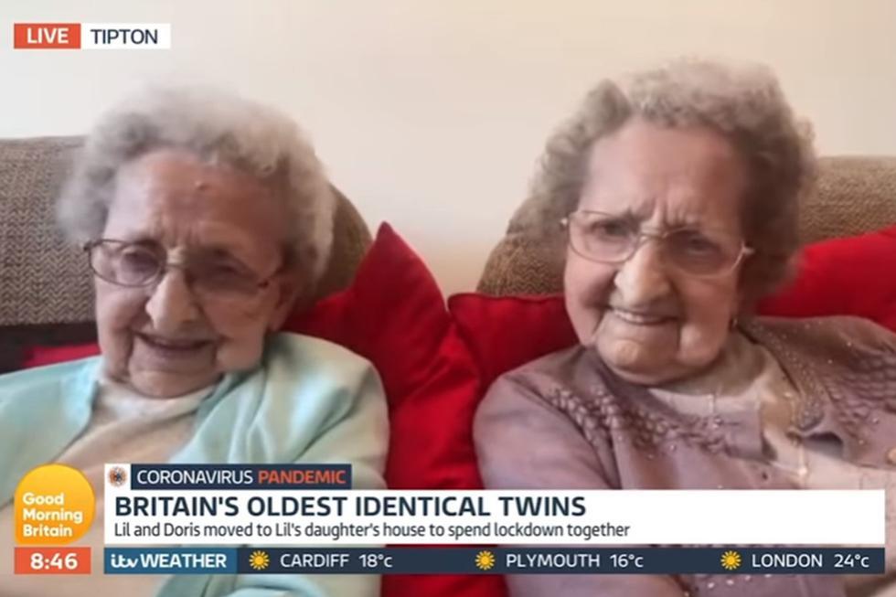 Las abuelitas de 95 años bromearon con su entrevistador y la escena impactó bastante a los usuarios. (YouTube: Good Morning Britain)