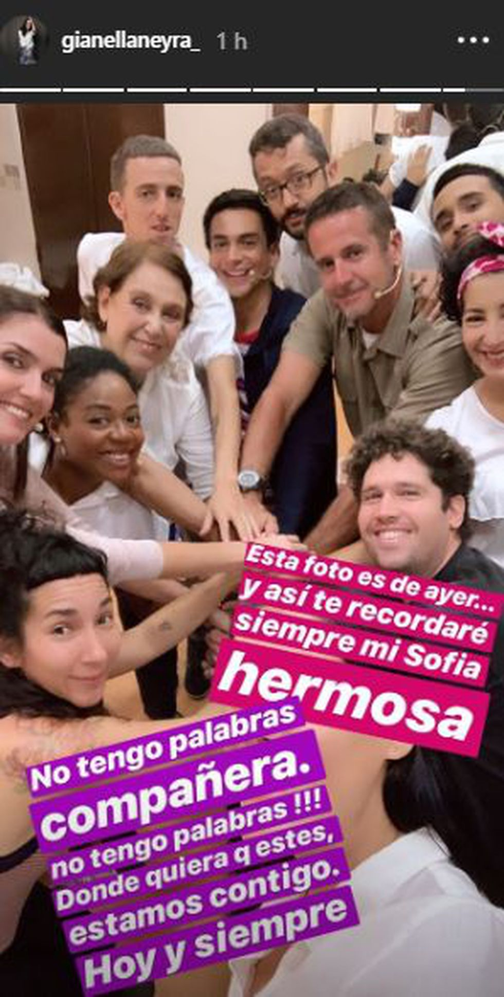 Gianella Neyra conmocionada tras enterarse de la muerte de Sofía Rocha. (Foto: @@gianellaneyra_)