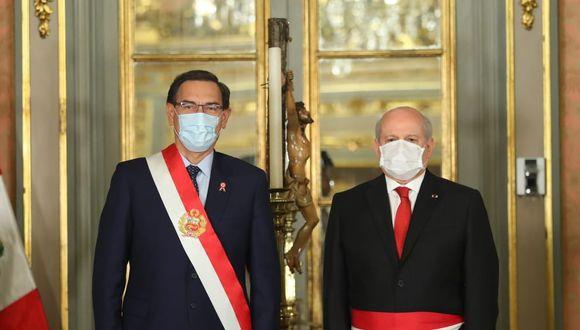 Presidente Martín Vizcarra se pronunciará sobre decisión del Congreso de negarle la confianza a Pedro Cateriano (Foto: Presidencia)