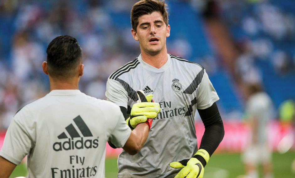 Real Madrid vs. Roma: Keylor Navas o Thibaut Courtois, la lucha continúa y Julen Lopetegui aún no confirmó al portero titular. (Foto: AFP)