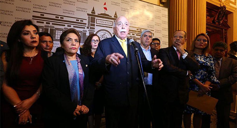 Fuerza Popular presentó una denuncia contra Alberto de Belaunde ante la Comisión de Ética. (Foto: Agencia Andina)