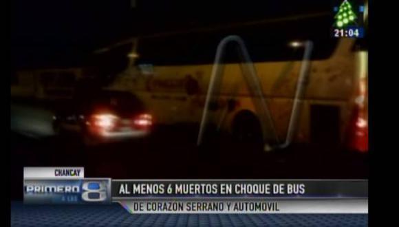 Chancay: bus de Corazón Serrano choca con auto y mueren seis