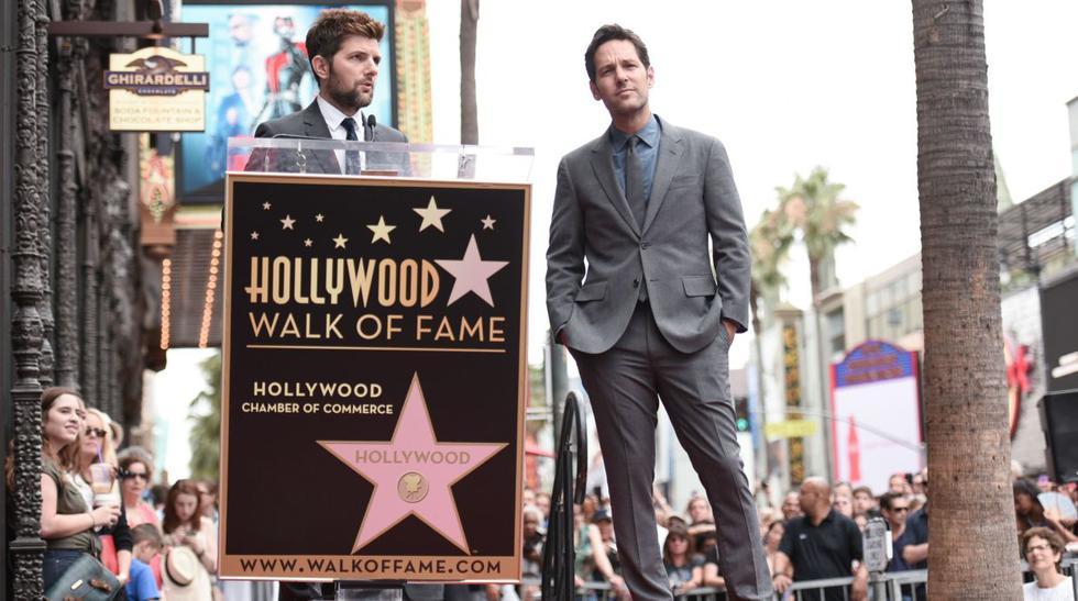 Paul Rudd y su estrella en el paseo de la fama de Hollywood - 3