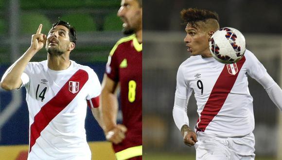 Pizarro y Guerrero le marcaron a Venezuela en la Copa América 2015. (Foto: EFE / AFP)