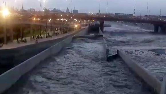 Río Rímac alcanza niveles regulares y empieza a descender