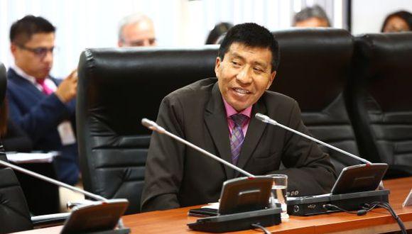 Moisés Mamani también está citado a la Comisión de Ética del Congreso. (Foto: Congreso)