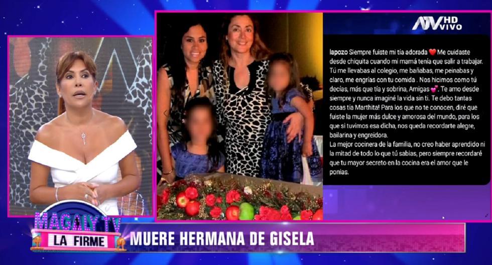 Magaly Medina dedica sentidas palabras a Gisela Valcárcel. (Foto: Captura ATV)