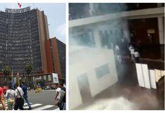 Corte Superior de Justicia de Lima interrumpió labores tras lanzamiento de bombas lacrimógenas