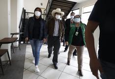 Pedro Castillo llega a Cañete tras sismo de magnitud 6.0