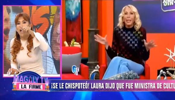 Magaly Medina desmiente a Laura Bozzo luego que abogada peruana señaló que fue ministra de Cultura. (Foto: Captura ATV)