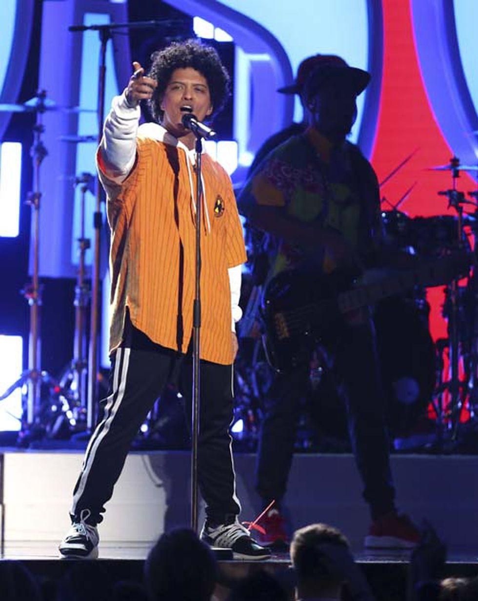 Bruno Mars en el Grammy 2018. (Foto: Agencias)
