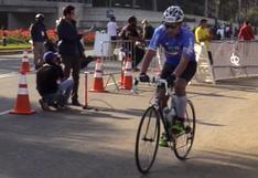 Conoce al competidor que recorrió el Ironman 70.3 con la bicicleta de su abuelo
