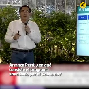 Arranca Perú: ¿en qué consiste el programa anunciado por el Gobierno?