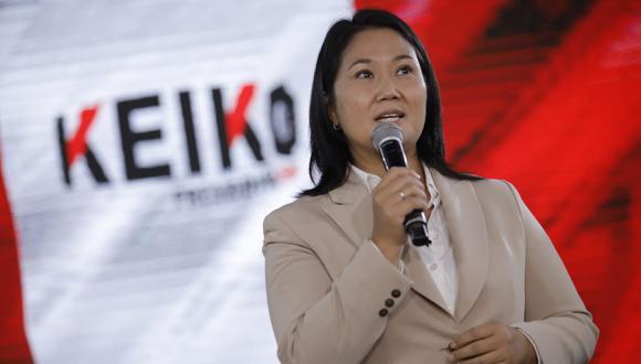 La candidata presidencial por Fuerza Popular indicó que reconocerá los resultados de la segunda vuelta de las Elecciones 2021. (Foto: GEC)