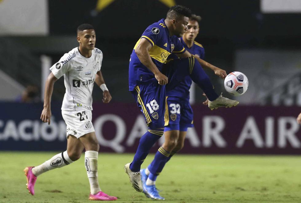 Boca Juniors enfrentó a Santos por la Copa Libertadores