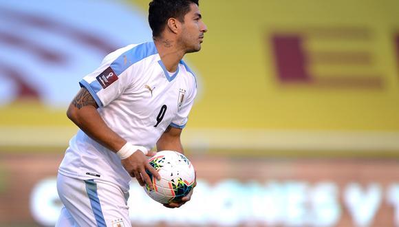 Luis Suárez es el goleador de las Eliminatorias Qatar 2022 con cuatro tantos. Ante Colombia en Barranquilla marcó de penal | Foto: Conmebol