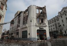 Edificio destruido en incendio era más antiguo que la misma Plaza San Martín