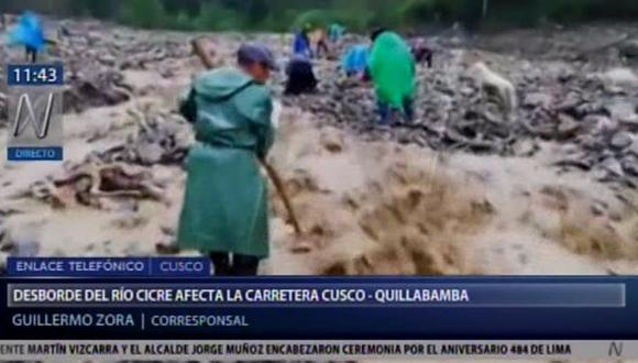 La PNP hizo un llamado a las empresas de transporte para no vender pasajes de Quillabamba a Cusco. (Foto: Captura Canal N)