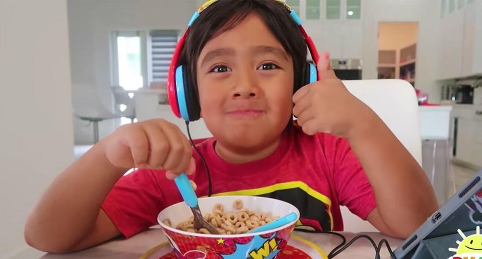 Ryan Kaji tiene más de 23 millones de suscriptores en YouTube. (Captura)