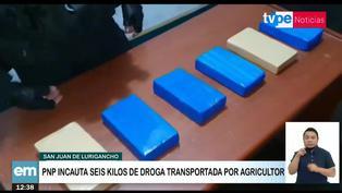 SJL: PNP incauta 6 kilos de cocaína transportada por agricultor