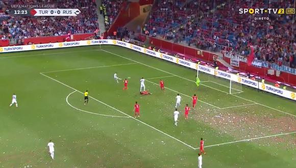 Denis Cheryshev lleva cinco goles en sus últimos seis encuentros con Rusia. Fue la figura en la Copa del Mundo 2018. Ahora anotó el primero de los suyos en el estreno de la UEFA Nations League. (Foto: captura de pantalla)