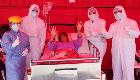 Chimbote: mujer que sufrió traumatismo encefalocraneano en accidente derrotó al COVID-19 (Foto: Diresa: Áncash)