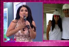 """Tula Rodríguez se emocionó al escuchar """"Que levante la mano"""", canción que marcó su relación con Javier Carmona"""