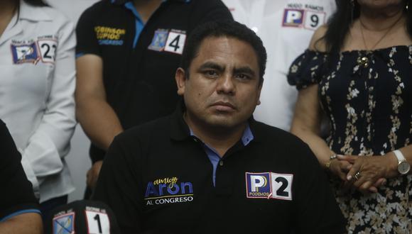 Congresista Aron Espinoza indicó que fue dado de alta tras ser diagnosticado de coronavirus. (Foto: GEC)