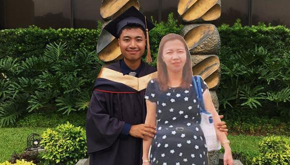 Paulo John Alinsog celebró su graduación junto a toda su familia y, en especial, con su mamá quien también estuvo presente de una emotiva manera. (Foto: Facebook Paulo John Alinsog)