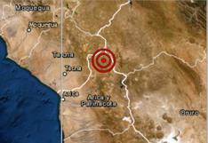 Sismo de magnitud 4,5 se registró esta mañana en Tacna
