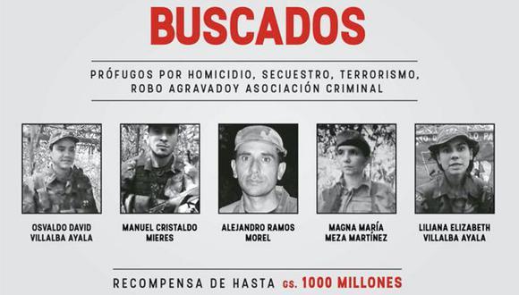 Sucesivos gobiernos paraguayos han tratado de desbaratar al pequeño Ejército del Pueblo Paraguayo (EPP), que la semana última dio su mayor golpe con el secuestro de un exvicepresidente. (Foto: Ministerio del Interior de Paraguay, vía BBC Mundo).