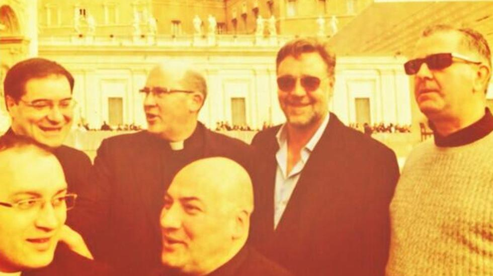Russell Crowe llegó al Vaticano pero no logró visitar al Papa  - 1