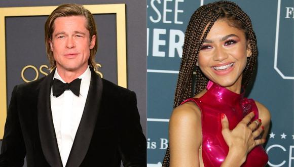 Brad Pitt y Zendaya serán parte de los presentadores de los premios Oscar. (Foto: AFP-FREDERIC J. BROWN/Jean-Baptiste LACROIX)