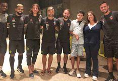 Flamengo recibió la visita del mejor hincha del 2019 de la FIFA en Lima