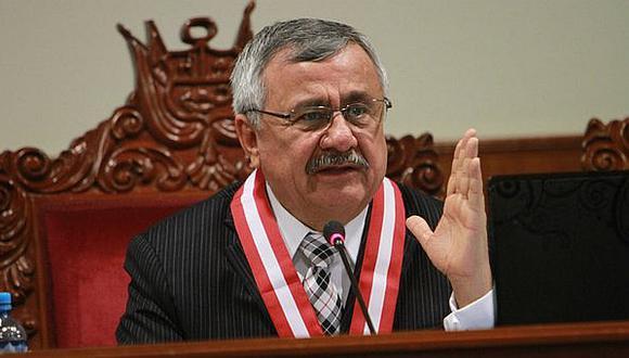 Presidente de la Comisión de Levantamiento de Inmunidad de la Corte Suprema, Francisco Távara, anunció que enviarán opinión al Congreso. (Foto: GEC)
