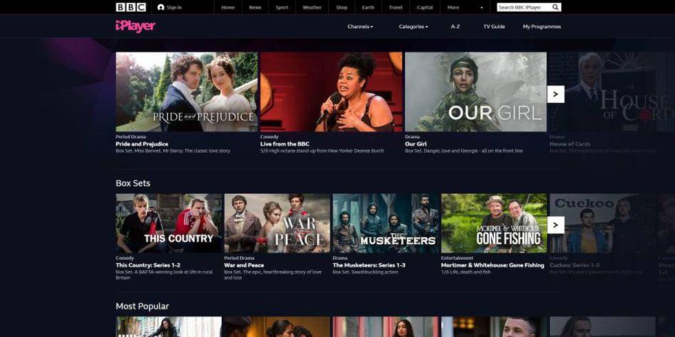6. BBC iPlayer es la plataforma de streaming de BBC, la televisión pública del Reino Unido (Foto: BBC iPlayer)