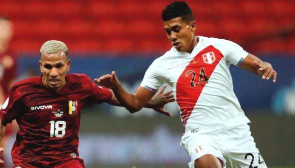 Raziel García fue una de las sorpresas de Perú en la Copa América 2021. (Foto: EFE)