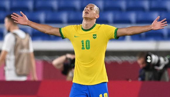 Richarlison es, por ahora, el máximo goleador del fútbol masculino en Tokio 2020. (Foto: AFP)