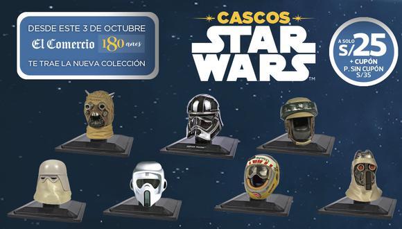 Colección Cascos Star Wars 2 con El Comercio, son 7 nuevos modelos para completar tu colección.