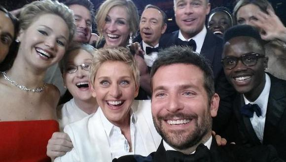 Selfie de Ellen DeGeneres es el más retuiteado de la historia